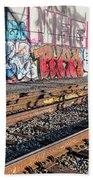 Graffiti On The Wall, Tenth Street Beach Towel
