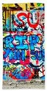 Graffiti Street Beach Towel by Bill Cannon