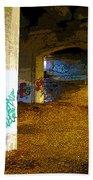 Graffiti Under The Bridge Beach Towel