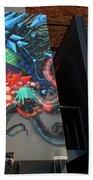 Grafitti And The Panes Beach Towel