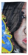 Grafitti Art Calama Chile Beach Towel