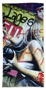 Grafitti Art Florianopolis Brazil 1 Beach Towel