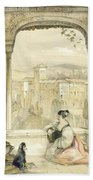 Granada , Plate 9 From Sketches Beach Towel