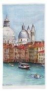 Grand Canal And Santa Maria Della Salute Venice Beach Towel