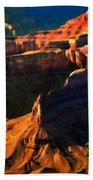 Grand Canyon At Sunset Beach Towel