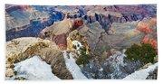 Grand Canyon In February Beach Towel