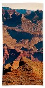 Grand Canyon Navajo Point Panorama At Sunrise Beach Towel