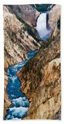 Grand Canyon Of Yellowstone Beach Towel by Bill Gallagher