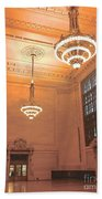 Grand Central Terminal Chandeliers Beach Towel