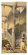 Grand Elizabethan Staircase Beach Towel