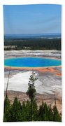 Grand Prismatic Spring From Above Beach Towel