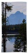 Grand Teton Framed By Cedars Beach Towel