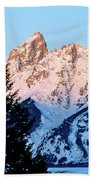 Grand Teton National Park Moonset Beach Towel