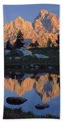 1m9376-grand Teton Reflect 2 Beach Towel