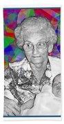 Grandma And Rose Beach Towel