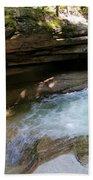 Granite Boulder And Sabbaday Brook Beach Towel