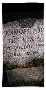 Granite Monument Quoddy Head State Park Beach Towel