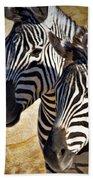 Grant's Zebras_b1 Beach Towel