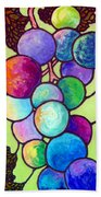 Grape De Chine Beach Towel