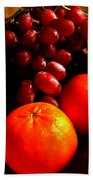 Grapes And Tangerines Beach Towel