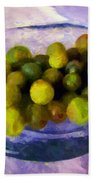 Grapes On The Half Shell Beach Towel