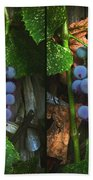 Grapes On The Vine - Gently Cross Your Eyes And Focus On The Middle Image Beach Towel