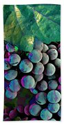 Grapes Painterly Beach Towel