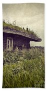 Grass Roof On Cottage Beach Towel