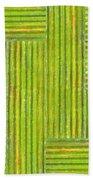 Grassy Green Stripes Beach Towel