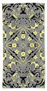 Gray And Yellow No. 1 Beach Towel