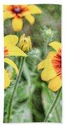 Great Blanket Flower Gaillardia Beach Towel