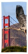 Great Blue At The Golden Gate Beach Towel