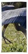 Great Blue Dining Out Beach Towel