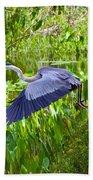 Great Blue Heron  Beach Towel