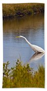 Great Egret  Beach Towel