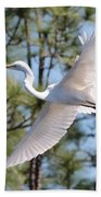 Great Egret Spirit Beach Towel