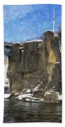 Great Falls Painted Beach Towel