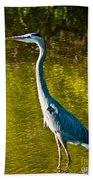 Great Heron Beach Towel