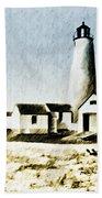 Great Point Lighthouse Nantucket Beach Towel