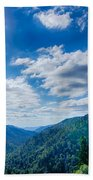 Great Smoky Mountains National Park On North Carolina Tennessee  Beach Towel