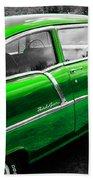 Green 1957 Chevy Beach Towel
