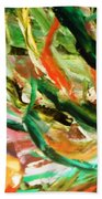Green 5  Beach Towel