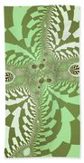 Green Abstract Beach Towel
