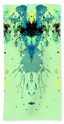 Green Alien Beach Towel