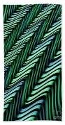 Green And Blue Folds Beach Towel