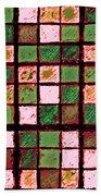 Green And Brown Sudoku Beach Towel