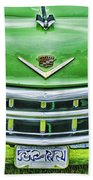Green And Chrome-hdr Beach Towel
