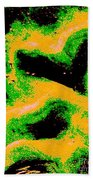 Green And Gold Pattern Abstract Beach Towel