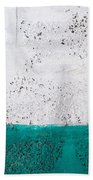 Green And White Wall Texture Beach Towel