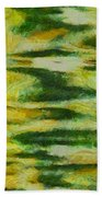 Green And Yellow Abstract Beach Towel